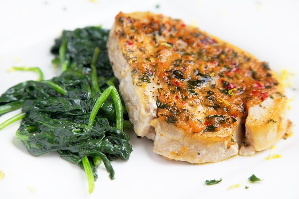 Ginger Garlic Pan Roasted Swordfish