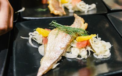 Rooibos Smoked Silver Fish With A Shaved Fennel, Orange and Grapefruit Salad