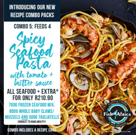Combo 5 - Spicy Seafood Pasta with Tomato + Butter sauce