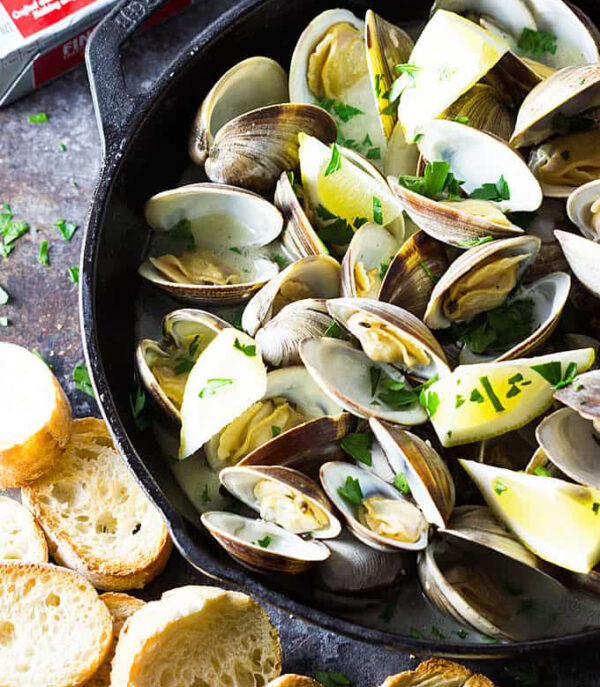 Clams in a shell